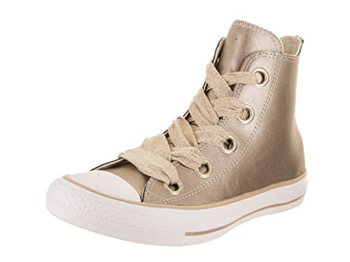 Converse Women Chuck Taylor All Star Big Eyelets Hi Casual Shoe Metallic Gold/Gold/Wht