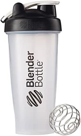 BlenderBottle Classic Loop Top Shaker Bottle, Clear/Black, 28-Ounce Loop Top