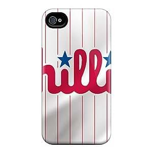 Premium Durable Philadelphia Phillies Fashion Tpu Iphone 4/4s Protective Case Cover