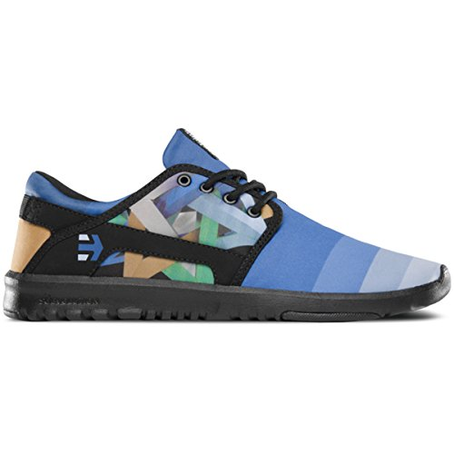 Etnies Scout X Juan travieso Low de Top Shoe Black Blue negro y azul