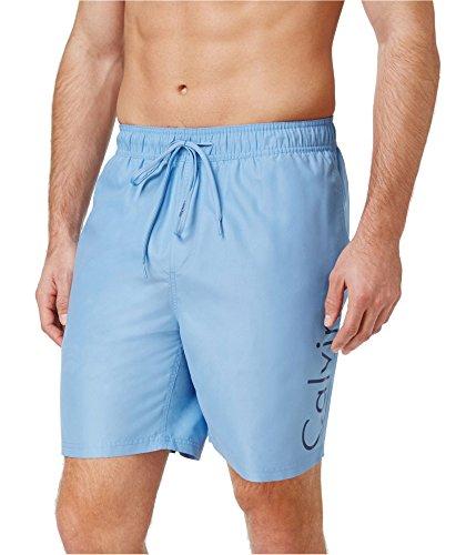 Calvin Klein Mens Logo Swim Bottom Trunks Blue XL