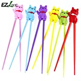 STAR-FIVE-STORE - EZLIFE 18cm Cool Toy Cheater Chopsticks silicon Cute Toy Design Chopsticks Minions Kids Training Helper Learning Fun Gift KT0742