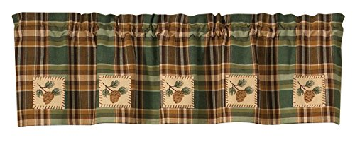 Valance Pinecone (Park Designs Pinecone Patch Lined Valance, 60 x 14