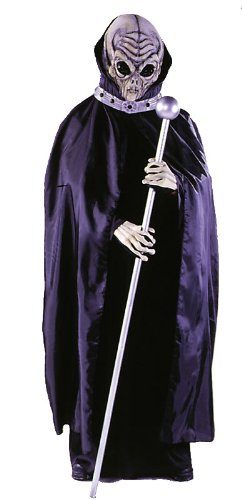 [Costumes For All Occasions FW8523 Alien Mask W Cape] (Mens Alien Costume)