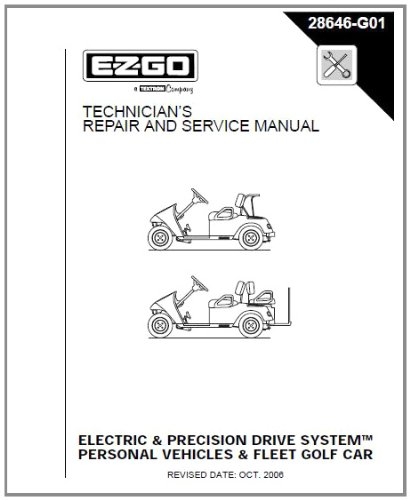 ezgo 28646g01 2001 2009 repair manual for electric pds txt. Black Bedroom Furniture Sets. Home Design Ideas