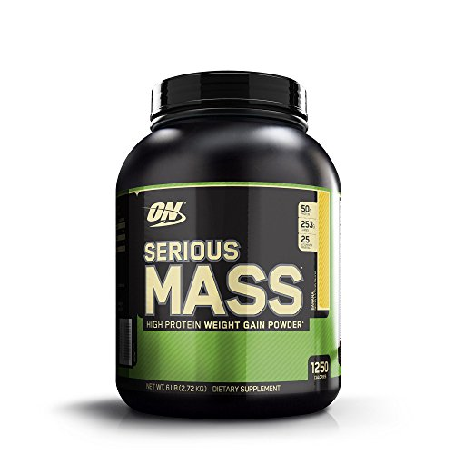 Optimum Nutrition Serious Mass High Protein Weight Gain Powder Banana 6 lbs 2 72 kg