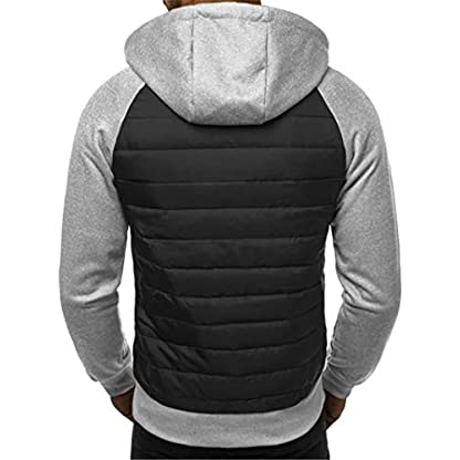 VANVENE Men's Casual Hoodie Sweatshirts Full Zip up Jumper Jacket Cardigan Hooded M-3XL 3
