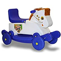Indian Mangolian Horse Rider 2-in-1 Rocker Cum Ride-On Toy for Kids (Multicolor) … …