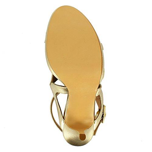 Evita Shoes Valeria - Sandalias de vestir de Piel para mujer dorado