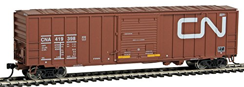 National Canadian Post - 50' ACF Exterior Post Boxcar - Ready to Run -- Canadian National CNA #419398 (Boxcar Red, Large Noodle Logo)