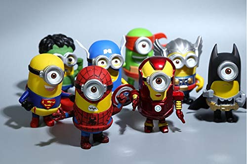 PAPRING Set 8 Figurine 3 inch Hot PVC Action Figures Figure Toy Small Toys Mini Model Gifts Christmas Halloween Birthday Gift Collection Collectible Movie for Kids Adults