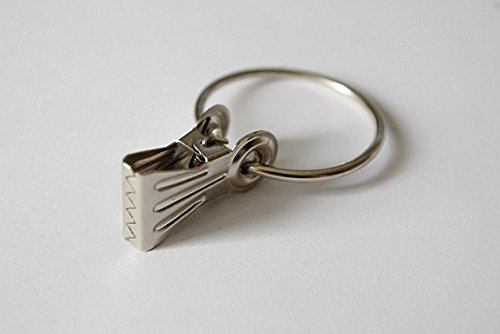 Classic curtain ring pincer clips - Extra strong Silver Ø40mm N EU