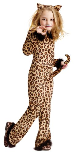 Fun World Pretty Leopard Costume, Small 4-6, Multicolor -