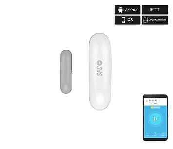 SPC Aperio - Sensor Apertura Puertas y Ventanas Inteligente Wi-Fi Compatible con Amazon Alexa, Google Home e IFTTT, Sin Cables Blanco: Amazon.es: ...