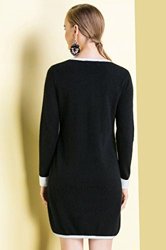 Long Pure Round Neck Zhili Sleeve Women's Cashmere 100 FBE7qY