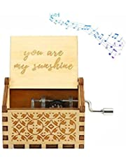 Pure Hand-Classical you are my sunshine Music Box Hand-Wooden Music Box Creative Wooden Crafts Best Gifts