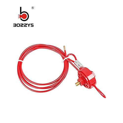 Manufacturer Direct Wholesale Wheel Type Cable Lockout Brady 2 Meter Stainless Steel Cable Lock encryption BD-L32