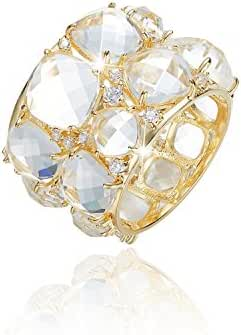 CDE Crystal Ring 18K Gold for Women Girls Her Crystals from Swarovski
