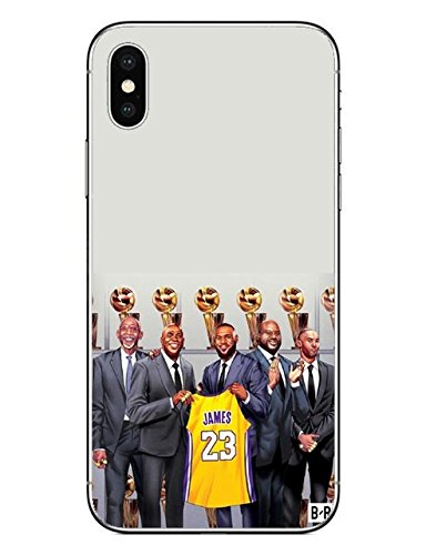premium selection e91f7 549b0 Yellow Beige Lebron James iPhone 7 Case Black Grey Lakers Pattern I ...