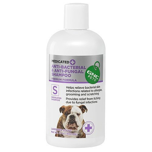 - GNC Pets® Medicated Anti-Bacterial & Anti-Fungal Shampoo, 17 Ounces