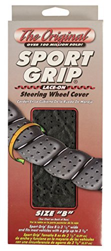 Auto Mall Superior 58-0550Y Sport Grip Steering Wheel Cover, Size B, Gray by Superior (1)