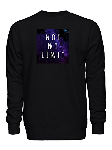 Stars Not My Limit Space Galaxy Photo Unisex Crew Neck Sweatshirt