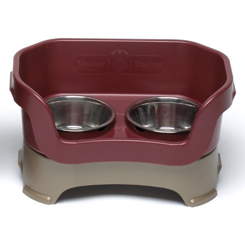 Gone Dog Dog Bowl - Neater Feeder Deluxe for Medium Dogs in Cranberry by Neater Pet Brands