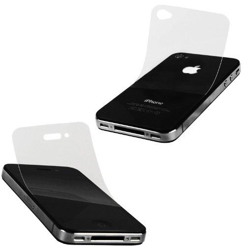 Xubix x- safe Lot de 2 films de protection d'écran invisibles pour faces avant et arrière de iPhone 4S et iPhone 4