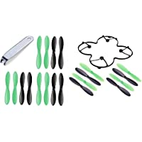 Protocol SlipStream [QTY: 1] Protection Cover Body Shield Guard Trainer Quadcopter Upgrade [QTY: 1] Propeller Blades Remover U-Wrench Main Props Rotor Puller Tool [QTY: 5] Set Black and Green