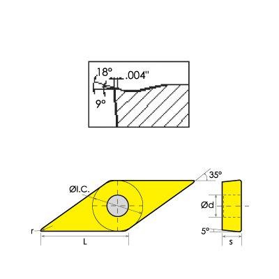 Regular Length 3 Flutes Corner Radius 5//8 Cutting Diameter Dormer S404HA5//8xR.120 Carbide TiCN End Mill