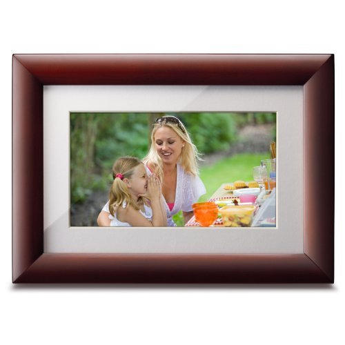 Viewsonic VFA724W-10 7-Inch High Resolution Digital Photo Frame (Cherry Wood Frame) - English Cherry Frame