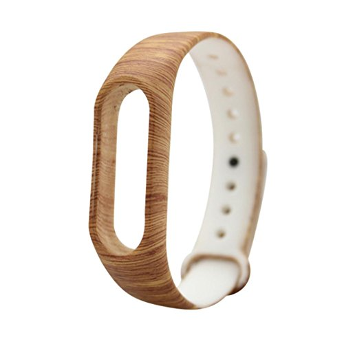 Price comparison product image DDLBiz Fashion Replacement Silica Gel Wristband Band Strap For Xiaomi Mi Band 2 Bracelet (D)