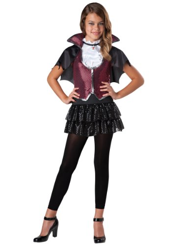 InCharacter Costumes Tween Glampiress Vampiress, Burgundy/Black, Medium