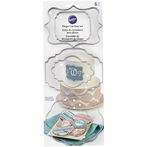 Wilton 417-7555 Fondant Cut-Outs 6/Pkg-Plaque
