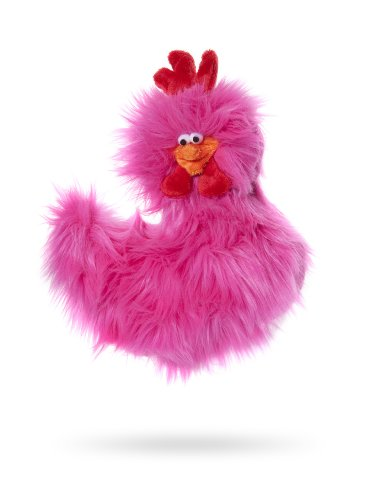 Image of West Paw Design Rowdy Rooster Squeak Toy for Dogs, Hot Pink