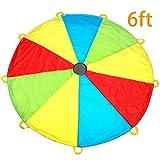 MountRhino Kids Parachute,6ft Play Parachute with 9