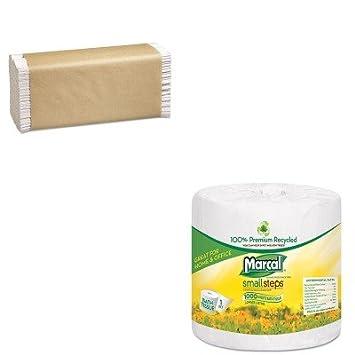 kitmrc4415mrcp100b – Value Kit – MarCal 100% Premium Reciclado 1 capa Papel higiénico (mrc4415
