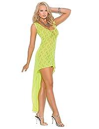 7412e0b667c3 Elegant Moments Women's Sleeveless Lace Hi-Lo Dress