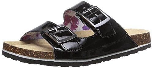 JSport by Jambu Women's Libra Slide Sandal, Black Patent, 9.5 M ()