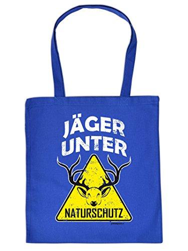 Jäger Tote Bag Henkeltasche Beutel mit Aufdruck Tragetasche Must-have Stofftasche Geschenkidee Fun Einkaufstasche