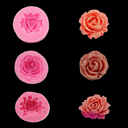 (Rose/Flower Silicone Mold For Fudge, Cake Decorating Chocolate Cookies Soap Fimo Polymer Clay Resins Kitchen Baking Tools)