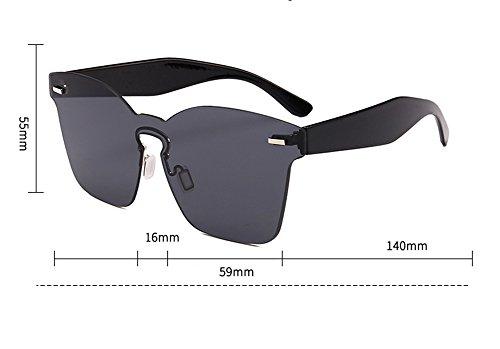 cuadradas UV400 vidrios moda clásica Gafas polarizadas integrados de no sol de la Marrón 0xw4xPEq