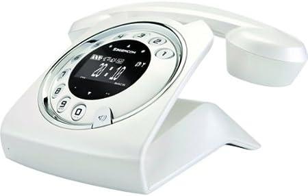 Sagemcom Sixty Pearl - Teléfono fijo digital (inalámbrico, pantalla LCD, contestador), blanco: Amazon.es: Electrónica