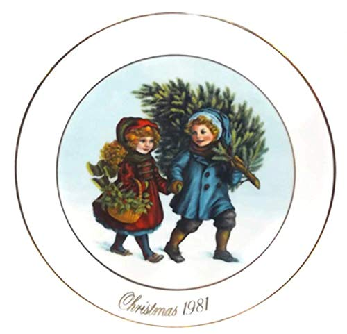 Vintage 1981 Avon Sharing the Christmas Spirit Christmas Memories Collector Plate in Box ()