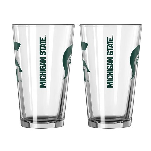 Boelter Brands NCAA Michigan Wolverines Game Day Pint, 16-Ounce, 2-Pack