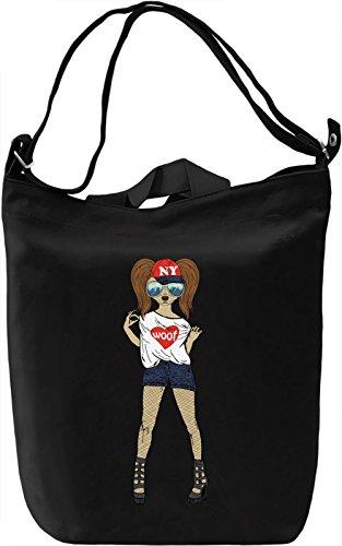 Chic dog Borsa Giornaliera Canvas Canvas Day Bag| 100% Premium Cotton Canvas| DTG Printing|
