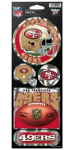 NFL San Francisco 49ers Prismatic Stickers, Team Color, One Size (San Francisco Vinyl 49ers)