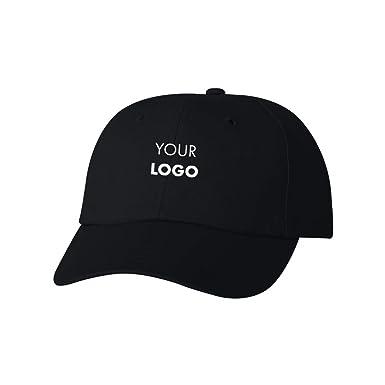 ea05aa46bb3348 Custom Embroidered Sportsman Cotton Baseball Hat - Free Logo Setup - Pack  of 5 Black