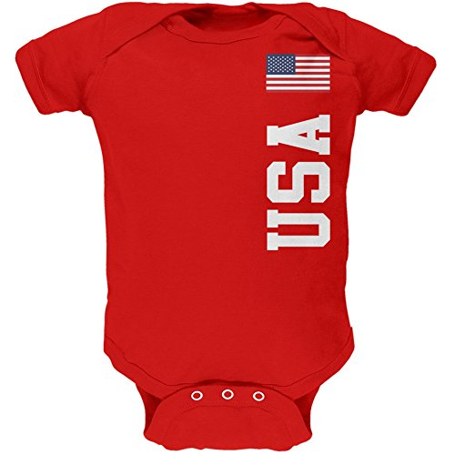 Price comparison product image World Cup USA Red Soft Baby One Piece - 0-3 months