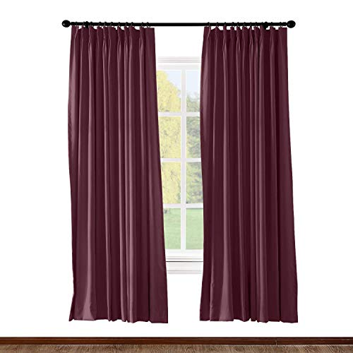 Prim Blackout Curtains Drapes and Curtains Patio Door Pinch Pleated Bedroom 52